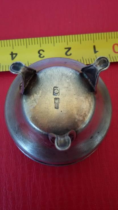 Сільничка срібна з позолотою.2, фото №5