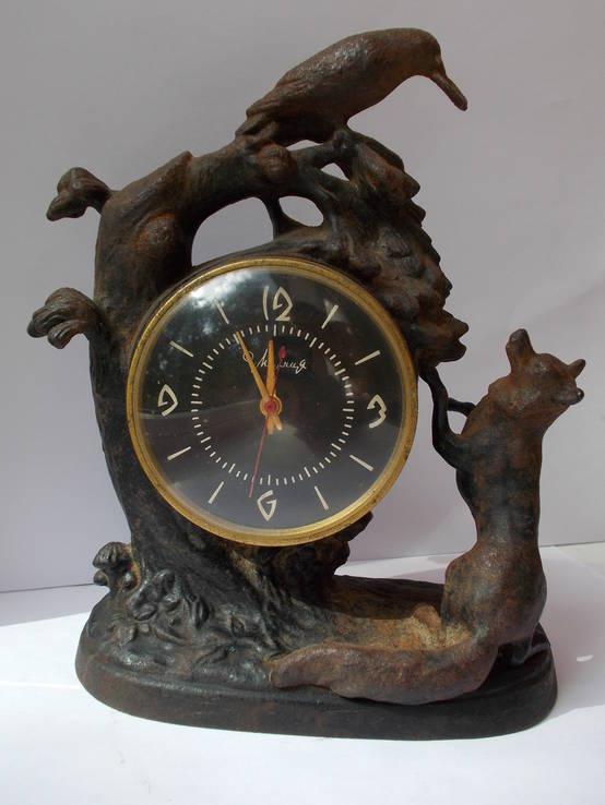 Часы Молния ворон и лиса Касли 1966 г.