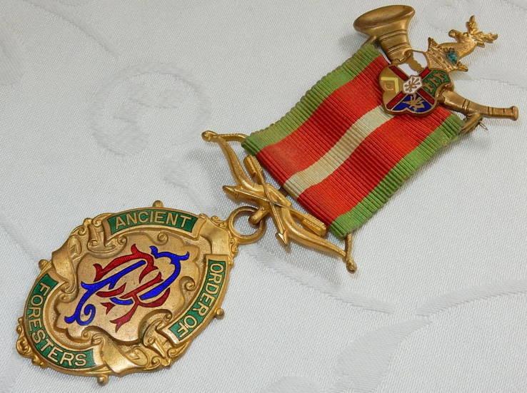 Древний Орден Лесников Награда 1925 Эмаль Великобритания