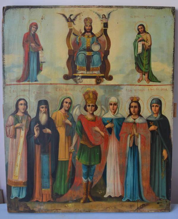Деисус и Архангел Михаил с избранными святыми 53/44