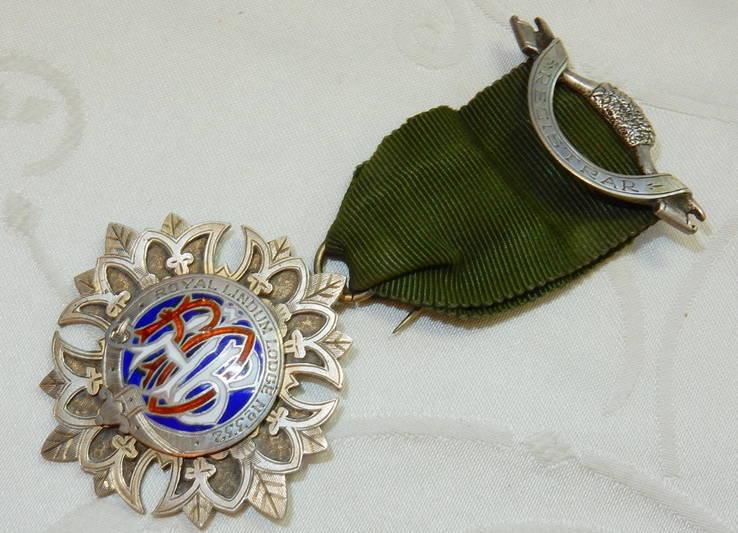 Серебро Эмаль Масонская награда ROAB 1926 Великобритания