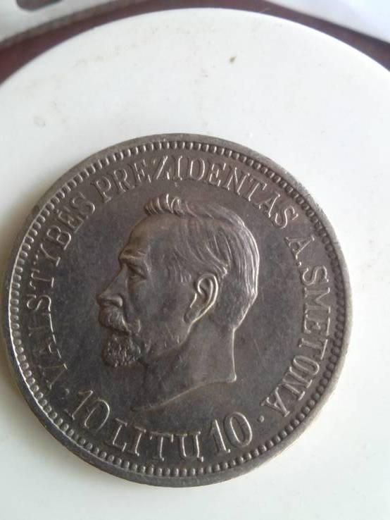 Монета. Литва. 10 литов 1938 год. Антанас Сметона.