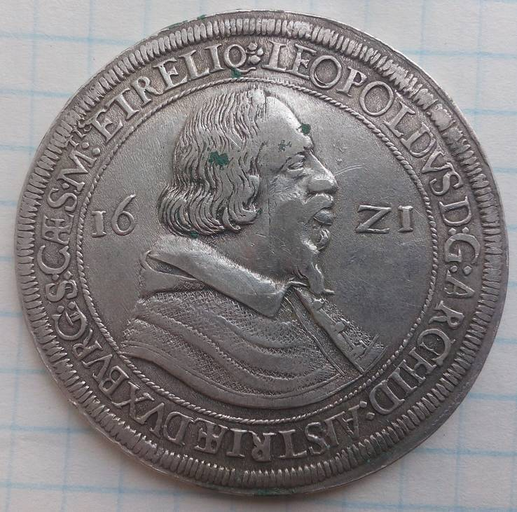 Талер 1621 Леопольд V Тироль