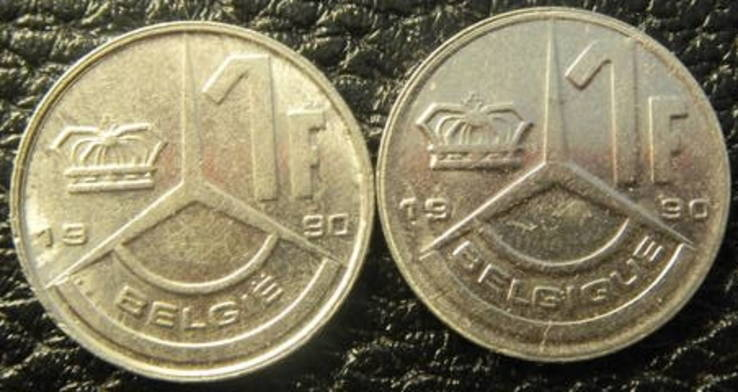 1 франк Бельгія 1990 (два різновиди), фото №2