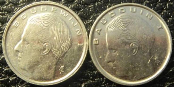 1 франк Бельгія 1990 (два різновиди), фото №3