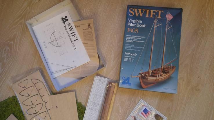 "Американская шхуна ""Свифт (Swift)"" 1:50 Artesania Latina (Испания), винтаж 1982г, новый, фото №6"