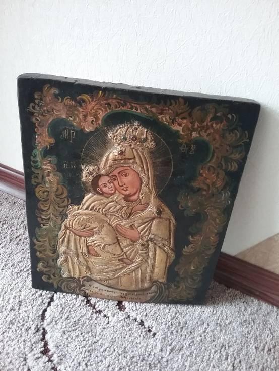 Икона Почаєвської Пресвятої Богородиці розмір 25,5х30см, фото №3