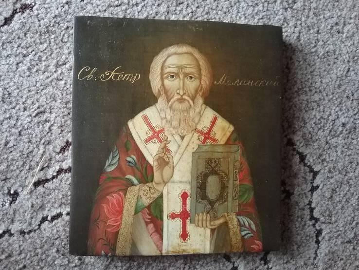 Икона св. Петр розмір 20х22см, фото №2