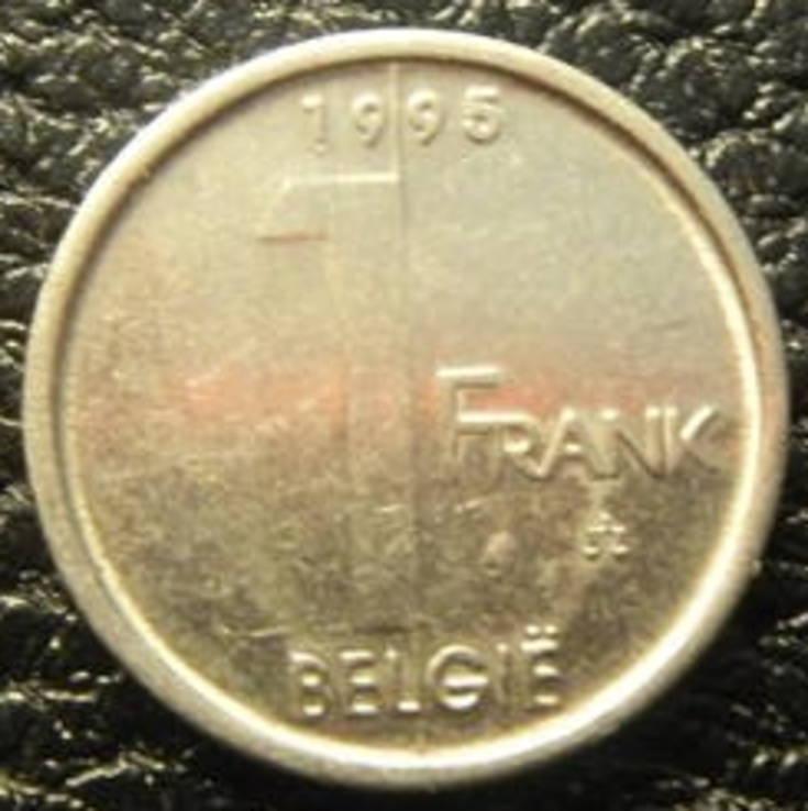1 франк Бельгія 1995 Belgie, фото №2