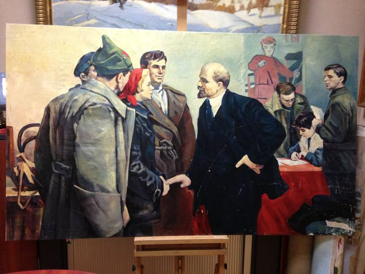 Ленин и молодежь - старая картина