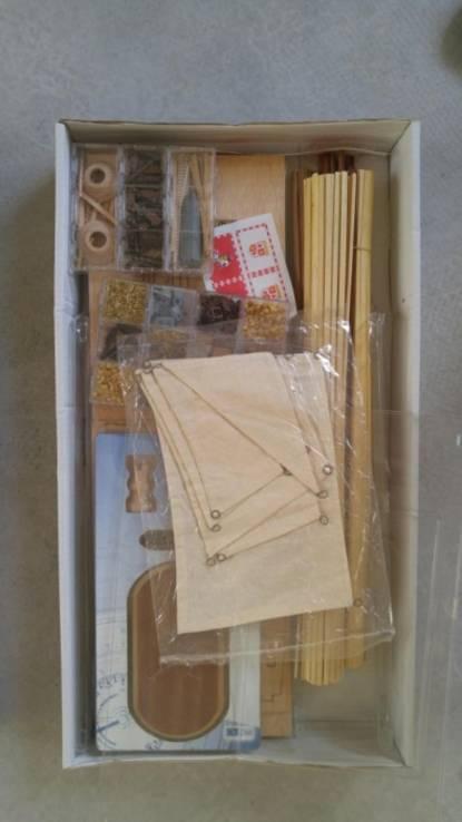 Сборная деревянная модель 1/90 Галеон San Martin  OcCre Испания, фото №3