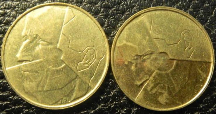 5 франків Бельгія 1987 (два різновиди), фото №3