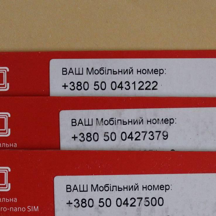 №14: 3 стартових пакети Vodafone