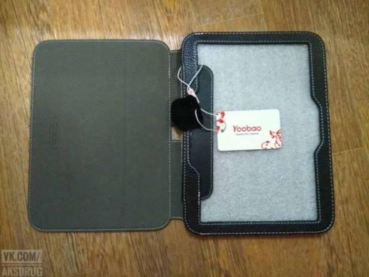 Чехол на планшет из натуральной кожи 10.1,10.0 .Качество. Yoobao.Черный