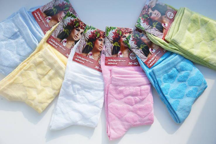 Женские носки, хлопок, лето. Разные цвета. Лот - 5 пар.
