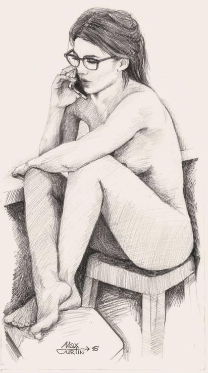 Девушка Ню.Макс Куртин 2015