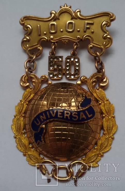 Знак Независимого Ордена Тайного Братства (Independent Order of Oddfellows) (I.O.O.F.)