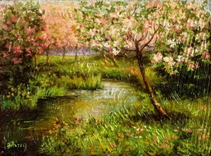 Яблони в цвету. автор Березина Карина