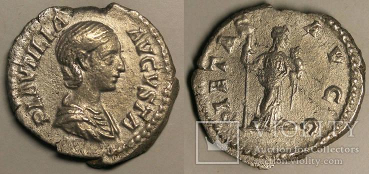 Плаутилла, монетный двор Рим, портрета и реверса - Пиетас