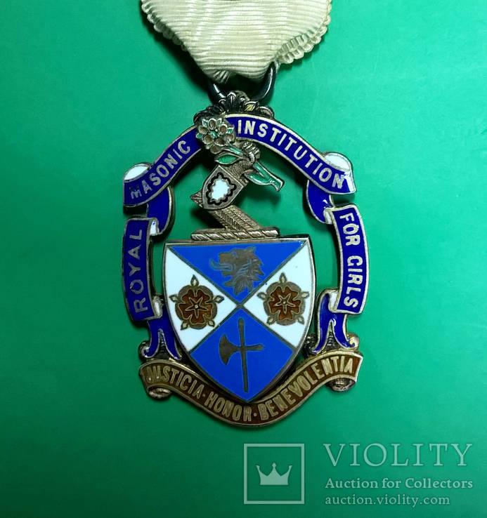 Знак. Награда масонов. Серебро. RMIG 1925 г.