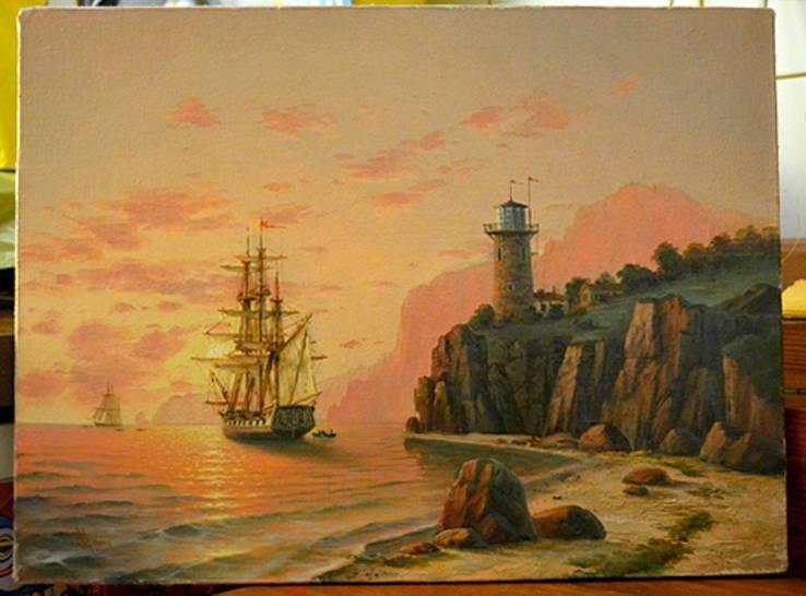 "Морской пейзаж ""У маяка"""