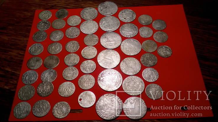 Мини коллекция монет средневековья (орты,трояки, полтораки)