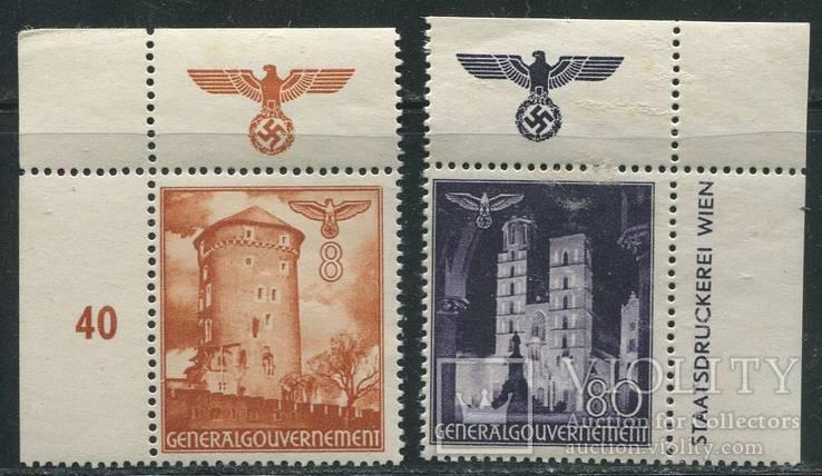 Рейх генералгубернаторство оккупация Польши замки + поле со свастикой