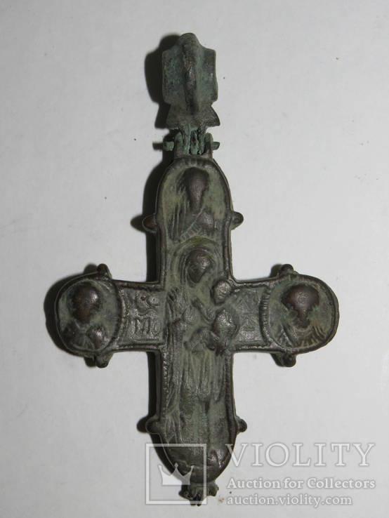 Крест – энколпион  - Одигитрия ,  периода Киевской Руси ( XI –XII века).