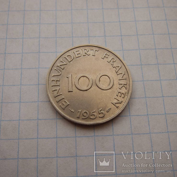 Саарленд 100 франков 1955