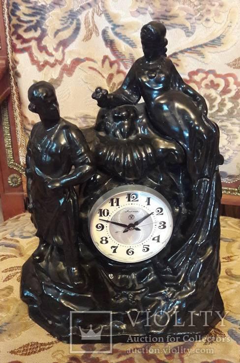 Часы каминные Молния