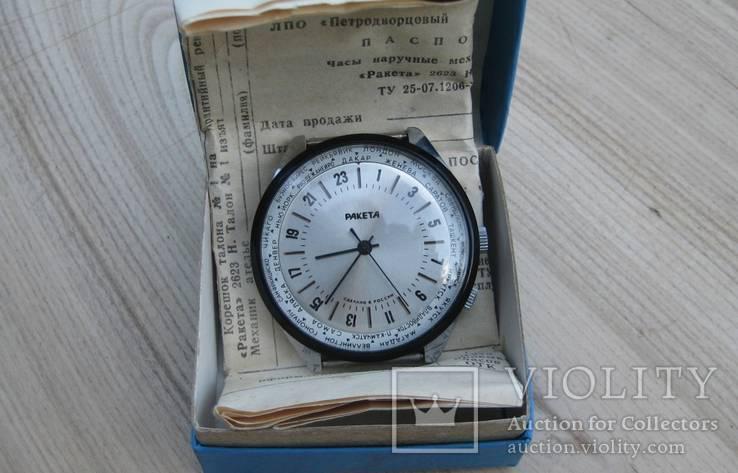 Часы ракета  24  города новые