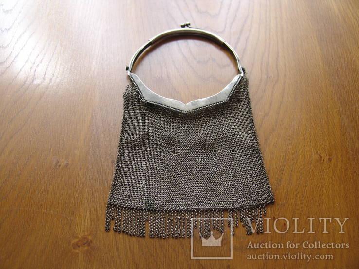 Срібна сумочка-гаманець