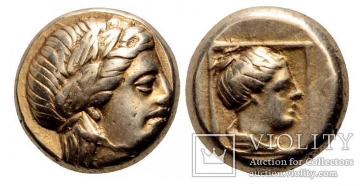 Лесбос, Мітіліні Гекта. (375-326 р. до н.е.)