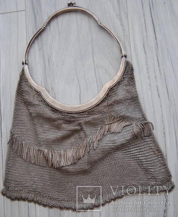 Театральная сумочка--серебро 800 пробы