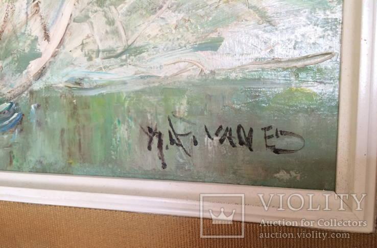 """Авторская Картина """" Розы в Вазе """". Холст, Масло в родной Раме., фото №6"""