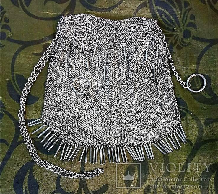 Серебряная театральная сумочка, московские клейма, именник, 1908 гг. (перевыставление)