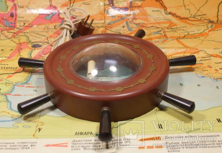 Щтурвал Светильник Ночник Маяк СССР 60-е Рабочий Odessa Ocean Line, фото №6