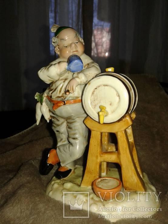 Brauer(Пивовар) 1 шт Германия,довоенная работа.,состояние-отличное,Высота 16.5 см., фото №2