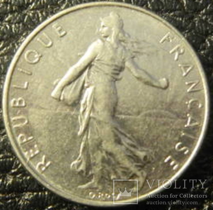 1/2 франка Франція 1976, фото №2