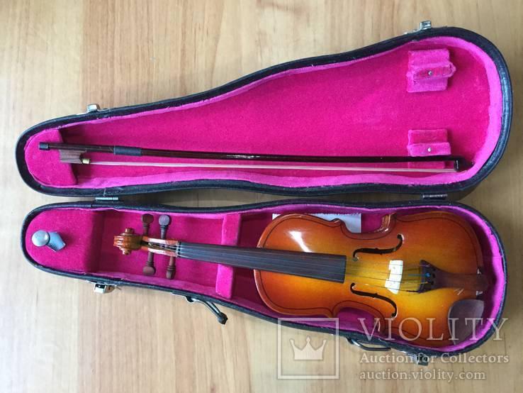Декоративная скрипка в футляре, мини-копия