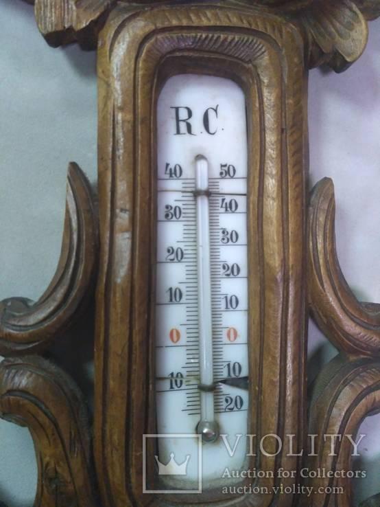 Старинный барометр с термометром, фото №4