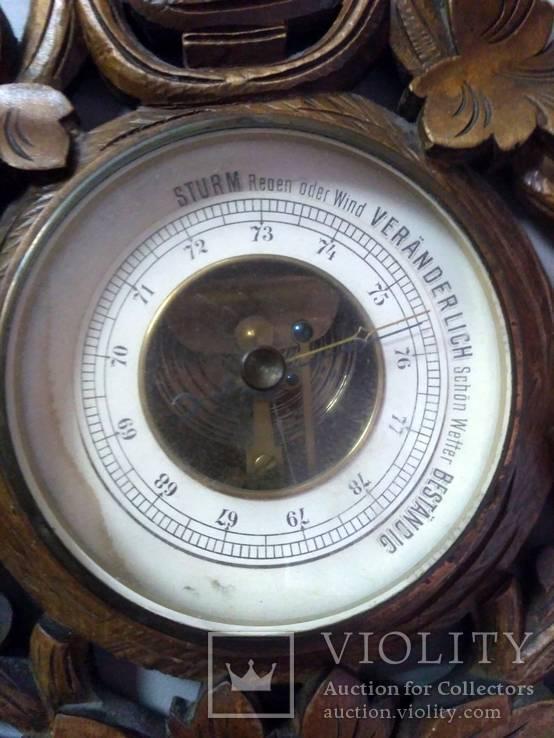 Старинный барометр с термометром, фото №6