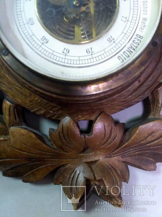Старинный барометр с термометром, фото №9