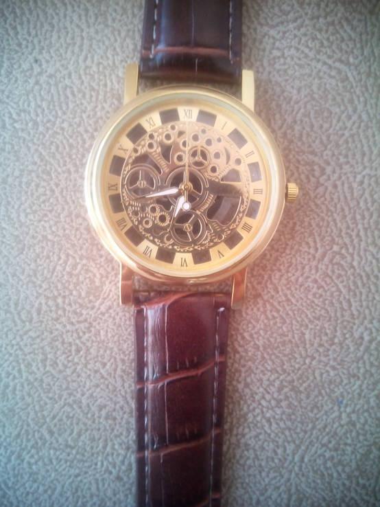 Стильные часы скелеты Кварц.(Новые)