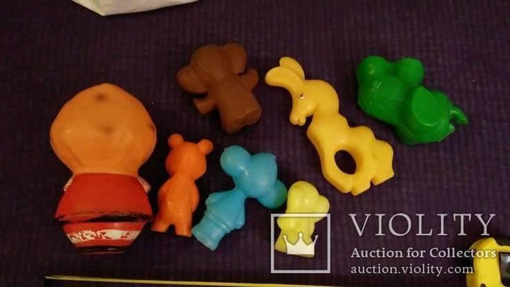 Игрушки СССР 7штук, целулоид, пластик, резина (с клеймами), фото №6