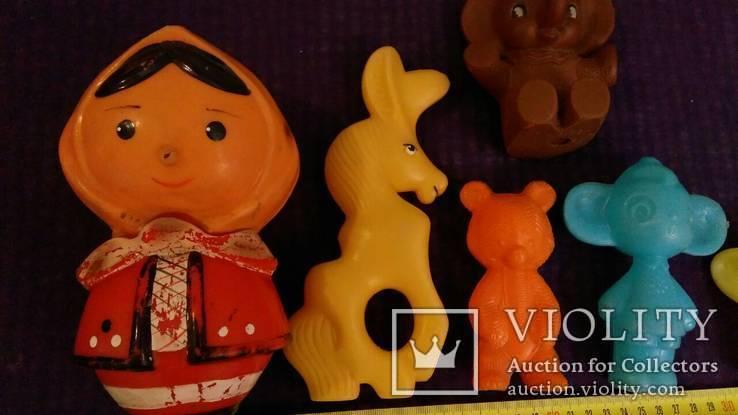 Игрушки СССР 7штук, целулоид, пластик, резина (с клеймами), фото №9
