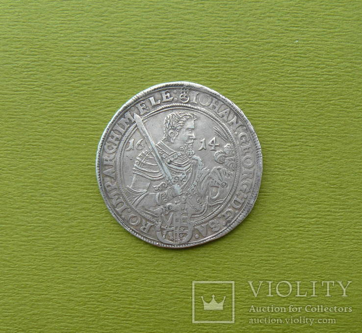Талер 1614 г. Саксония