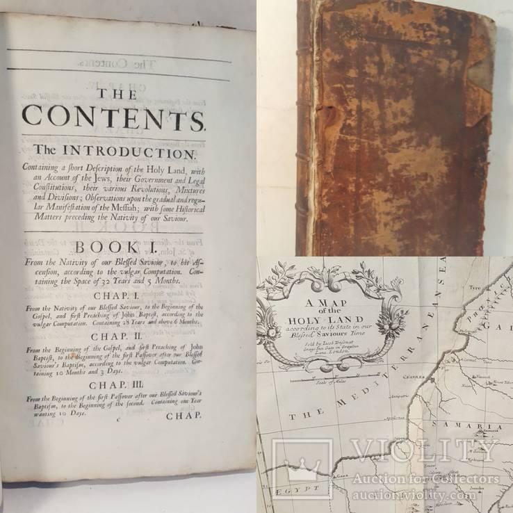 General Ecclesiastical History. Laurence Echard. 1702. Первое издание с картой.