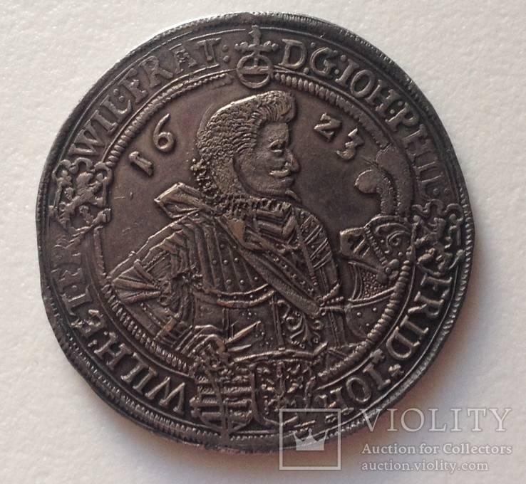 Талер. Саксония 1623г. Иоганн Филипп и братья