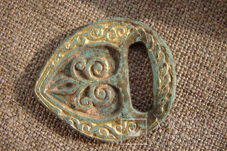Збруйная бляшка 14 - 15 век.(Золотая Орда)